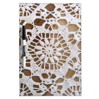 Lace Doily Photo Dry-Erase Board