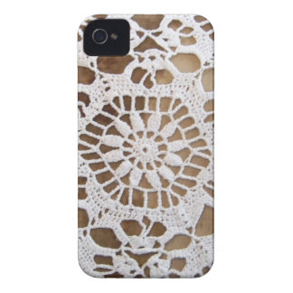 Lace Doily Photo iPhone 4 Case