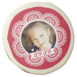 Lace Doily Photo Valentine Cookies Sugar Cookie