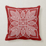 Lace Doily Red Pillow