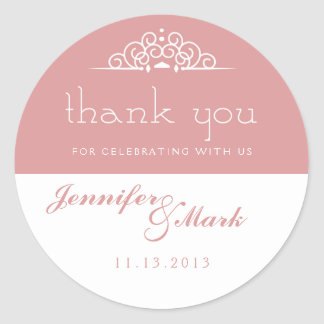 Lace Doily Thank You Sticker or Envelope Seal