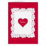 Lace Doily Valentine Card