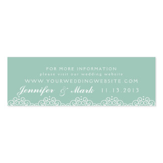 Lace Doily Wedding Website Card in Minth Double-Sided Mini Business Cards (Pack Of 20)