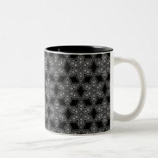 Lace Dollies pattern Two-Tone Coffee Mug