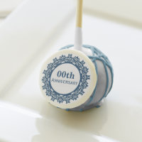 Lace Edged Wedding Anniversary Cake Pops