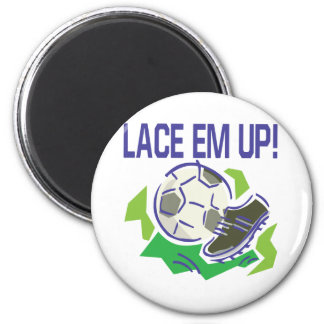 Lace Em Up 2 Inch Round Magnet