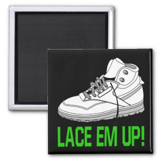 Lace Em Up 2 Inch Square Magnet
