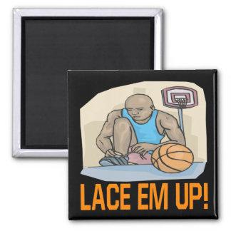 Lace Em Up 2 Inch Square Magnet