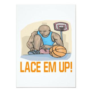 Lace Em Up 5x7 Paper Invitation Card