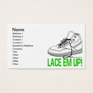 Ems business cards templates zazzle lace em up business card colourmoves Image collections