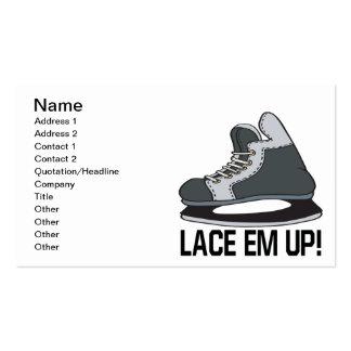 Lace Em Up Business Card Templates