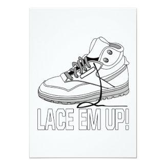 "Lace Em Up 5"" X 7"" Invitation Card"