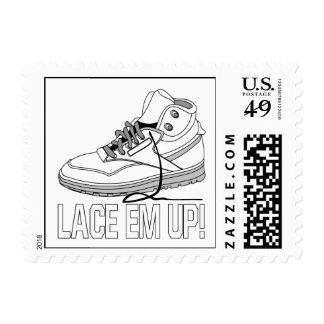 Lace Em Up Postage Stamp