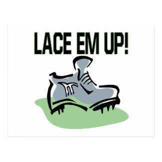 Lace Em Up Postcard