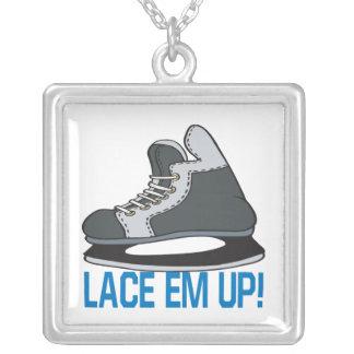 Lace Em Up Square Pendant Necklace