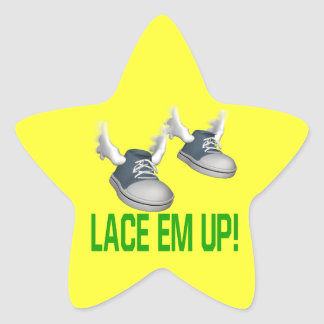 Lace Em Up Star Sticker