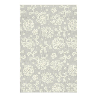 Lace fabric pattern 1 stationery