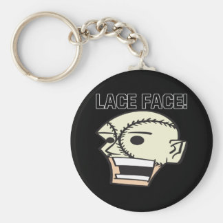 Lace Face Basic Round Button Keychain