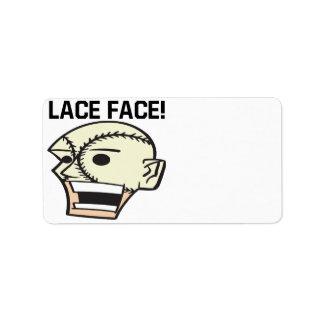 Lace Face Label