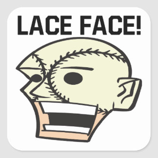 Lace Face Square Sticker