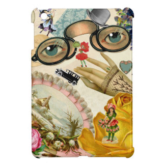 Lace Fan Spectacles and Flowers iPad Mini Cover