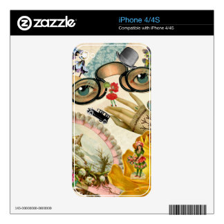 Lace Fan Spectacles and Flowers iPhone 4S Decals