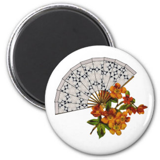 Lace Fan - Vintage Makeover 2 Inch Round Magnet