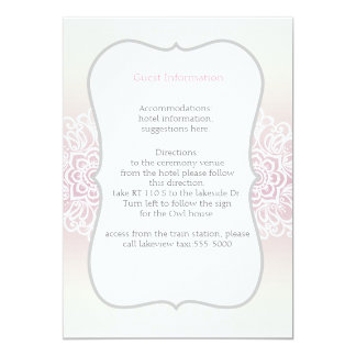 Lace Floral Wedding insert card