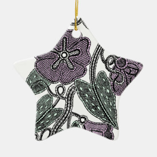 Lace Flowers Ceramic Ornament