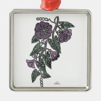 Lace Flowers Metal Ornament