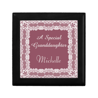Lace Frame Violet Granddaughter Personalized Gift Box