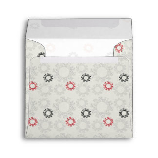 Lace Gears Pattern With Initial Envelope