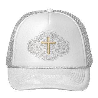 Lace & Gold Cross Cap Trucker Hat