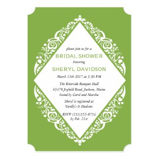 Lace GREENERY Bridal Shower Invitation