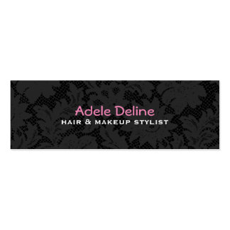 Lace Hair and Makeup Stylist Business Card