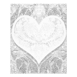 Lace Heart Add Text Flyer Design