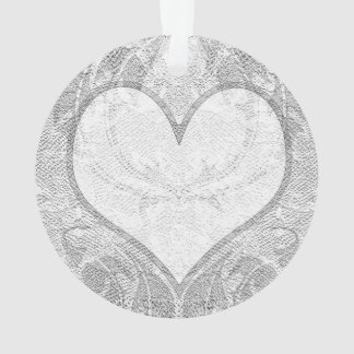 Lace Heart Add Text Ornament