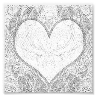 Lace Heart Add Text Photo Print