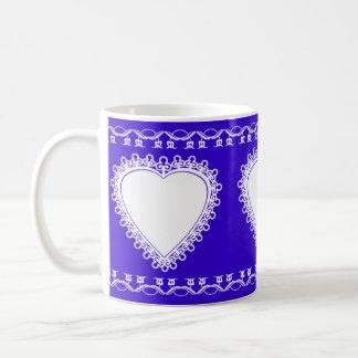 Lace Heart Coffee Mugs