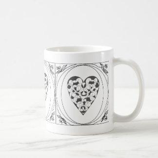 Lace Heart & Rose Frame Mug