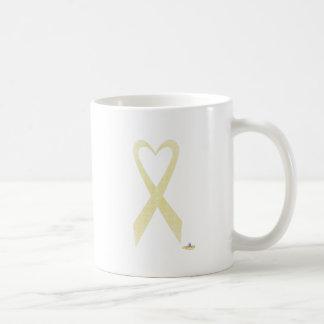 Lace Heart Shaped Awareness Ribbon Coffee Mugs