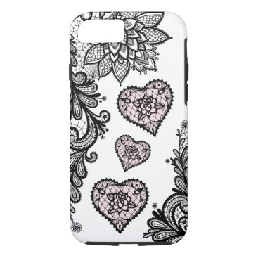 Aztec Themed (lace & hearts) iPhone 8/7 case