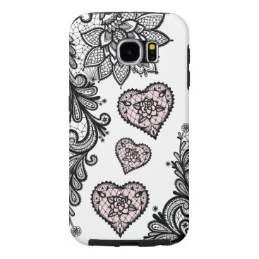 Aztec Themed (lace & hearts) samsung galaxy s6 case