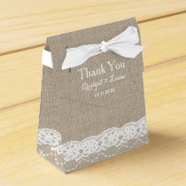 Lace in White Favor Box