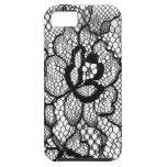 Lace IPhone Cover Flower Black White iPhone 5 Covers