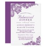 Lace Lavender Purple | Wedding Rehearsal Dinner Card