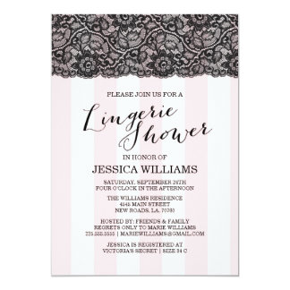 Lace Lingerie Shower Invitation