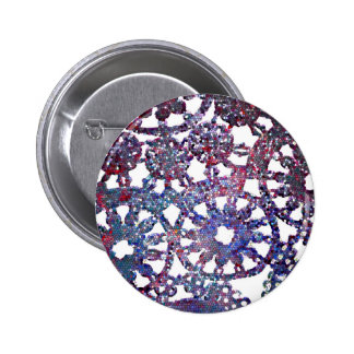 lace look stained glass image blue purple pattern button