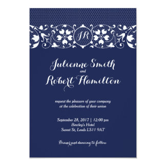 Lace Love | Monogram Wedding Invitation