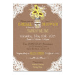 Lace Mason Jar Sunflower Rustic Bridal Shower Card